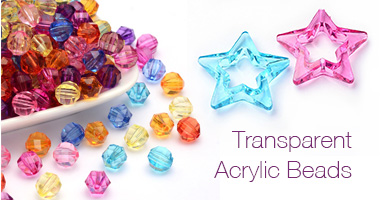 Transparent Acrylic Beads