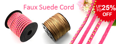 Faux Suede Cord UP TO 25% OFF