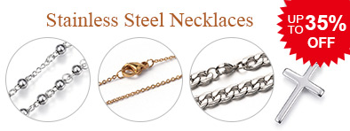 Stainless Steel Necklaces UP TO 35% OFF