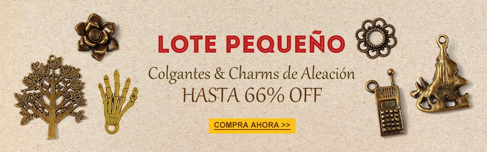 Lote Pequeño Colgantes & Charms de Aleación Hasta 66% OFF