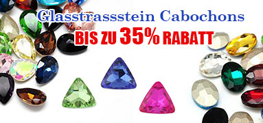 Glasstrassstein Cabochons