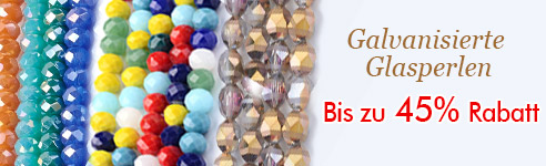 Galvanisierte Glasperlen