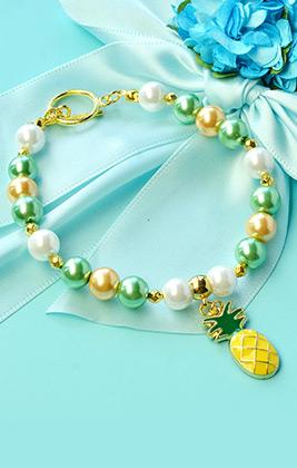 Pineapple Pendant Bracelet