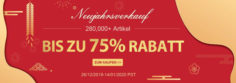 Neujahrsverkauf 280.000 +Artikel Bis Zu 75% Rabatt