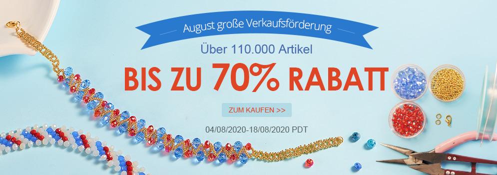August große Verkaufsförderung Über 110.000 Artikel Bis zu 70% RABATT