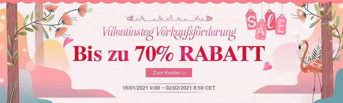 Valentinstag Verkaufsförderung Bis zu 70% RABATT