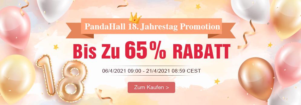 PandaHall 18. Jahrestag Promotion Bis Zu 65% RABATT