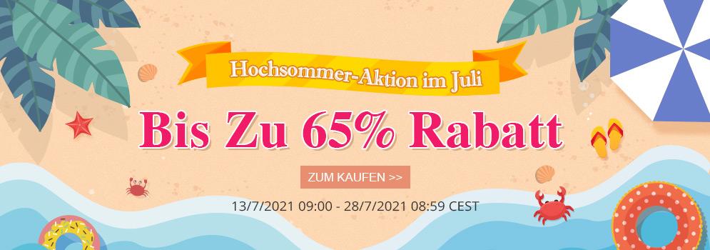 Hochsommer-Aktion im Juli 180,000+ Produkte Bis Zu 65% RABATT