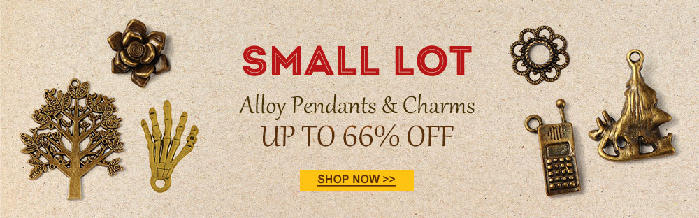 Small Lot Alloy Pendants & Charms Up to 66% OFF