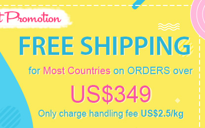 Free Shipping for Most Countries on Orders over US$49