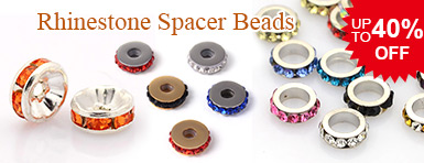 Rhinestone Spacer Beads UP TO 40% OFF