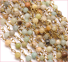 6mm Handmade Amazonite Beaded Chains