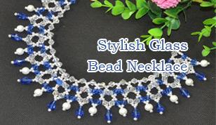 Stylish Glass Bead Necklace