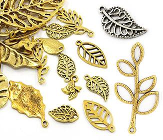 Leaf Tibetan Style Pendants