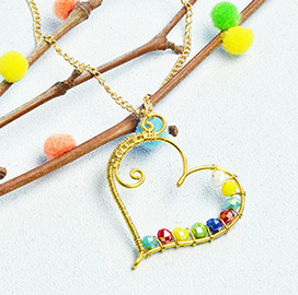 Heart-Shaped  Wrapped  Necklace