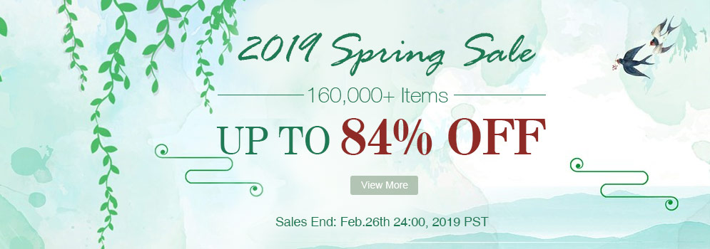 2019 SPRING SALE 160,000+ Items Up to 84% OFF