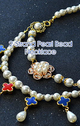 2-Strand Pearl Bead Necklace