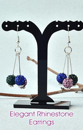 Elegant Rhinestone Earrings