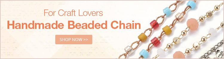 For Craft Lovers Handmade Beaded Chain