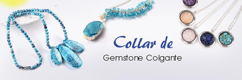 Collar de Gemstone Colgante