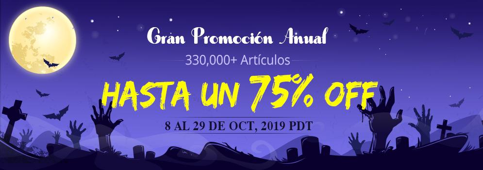Gran Promoción Anual 330,000+ Artículos Hasta un 75% OFF