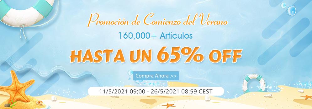 Promoción de Comienzo del Verano 160,000+ Artículos Hasta un 65% OFF