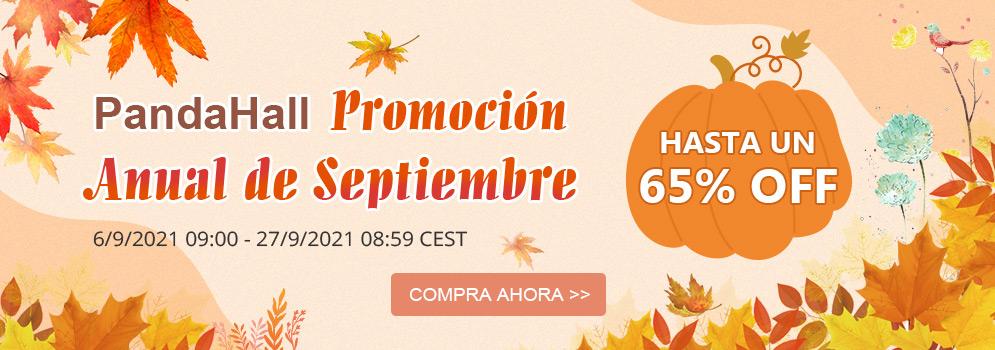 PandaHall Promoción Anual de Septiembre Hasta un 65% off