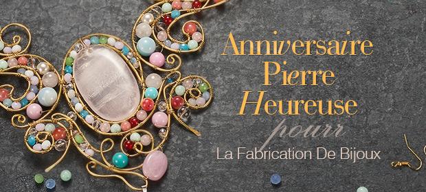 Anniversaire Pierre Heureuse Pour La Fabrication De Bijoux