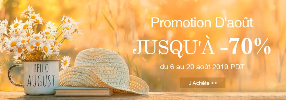 Promotion D'août Jusqu'à -70%