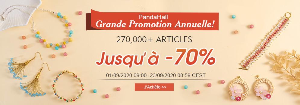 PandaHall Grande Promotion Annuelle! 270,000+ Articles Jusqu'à -70%