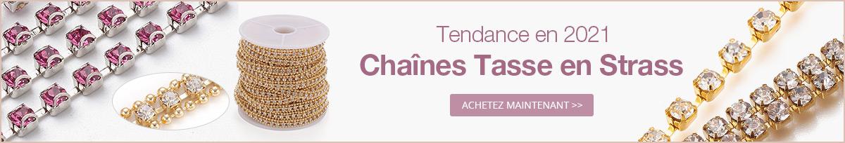 Tendance en 2021 Chaînes Tasse en Strass