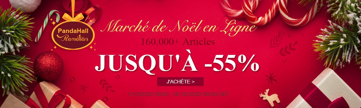 PandaHall Promotion Marché de Noël en Ligne 160,000+ Articles Jusqu'à -55%