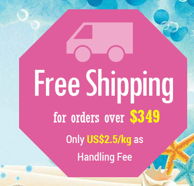 Free Shipping for orders over $349