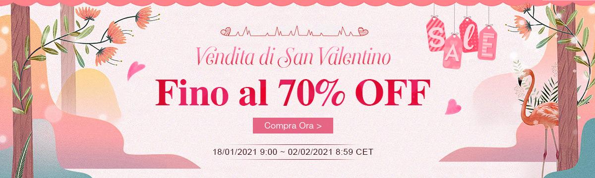 Vendita di San Valentino Fino al 70% OFF