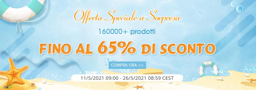 Offerta Speciale a Sorpresa 160000+ prodotti Fino al 65% di SCONTO