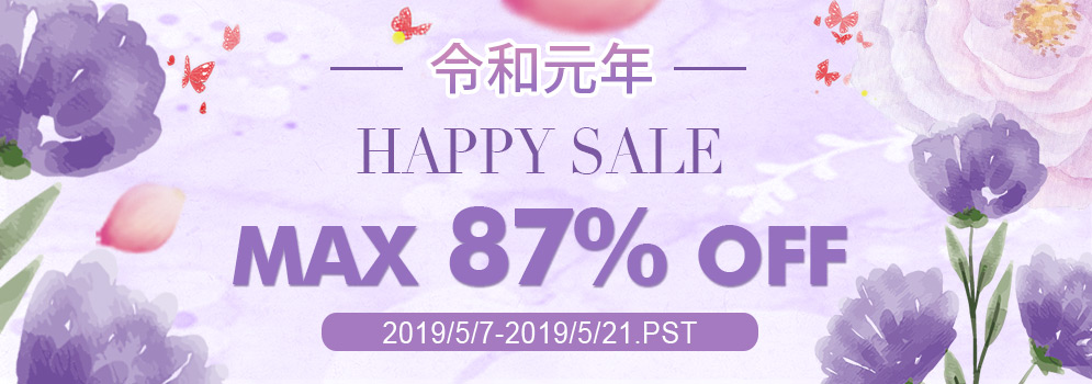 令和元年 Happy Sale Max 87% OFF